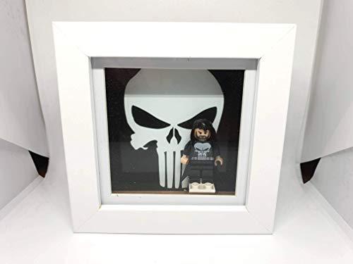 Kaizoot Custom Minifigure 3D Box Shadow Display Rahmen inkl. Figur Marvel - Hulk, Captain America, Thor, Iron Man, Deadpool, Punisher, Black Panther, Punisher 4x4