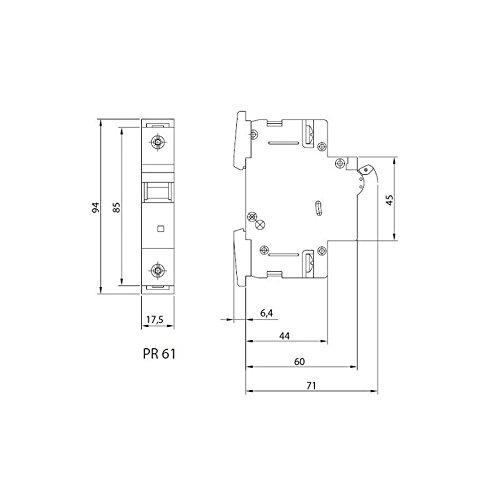 LS-Schalter SEZ C 25A 1-p 10kA VDE Leitungsschutzschalter Sicherungsautomat - 5