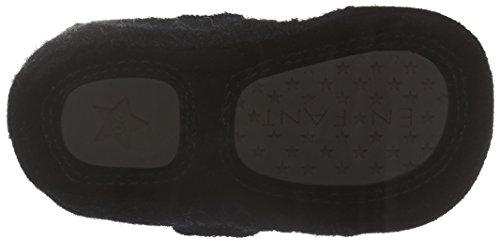 EN FANT Unisex-Kinder Felt Slipper Velcro Pantoffeln Grau (Dark Grey 37)