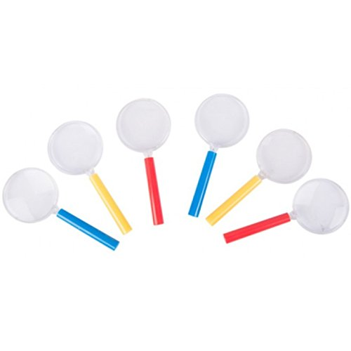 6er Set Lupe Vergrößerungsglas je ca. 10,5 x 4,4 cm