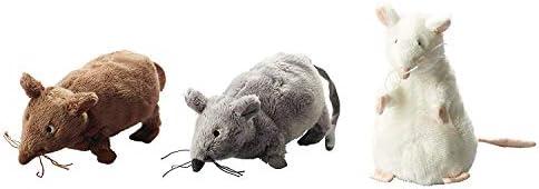 2XGosig 2XGosig 2XGosig Mus Rat Mouse Stuffed Animal Soft Toy, White, Brown, Grey, 5 1/2