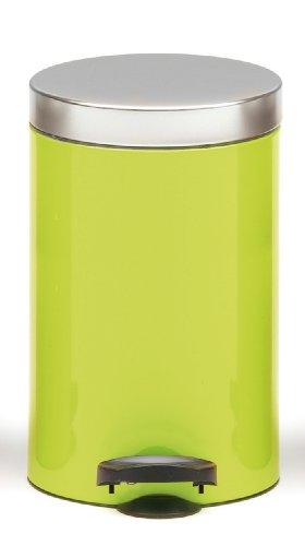 """Meliconi Pattumiera """"New Line Bicolor"""" Lt. 14 lusso, verde (lamiera litografata con coperchio metallo banda stagnata)"""