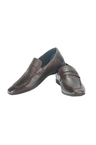 Louis Philippe Men's Brown Leather Formal Shoes - 9 UK/India (43 EU)