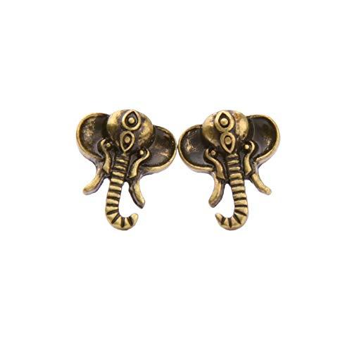 Xdytxdks La Sra. Pendientes Hipoalergénicos Retro Lindos Elefantes Pequeños Para Mujer Pendientes...