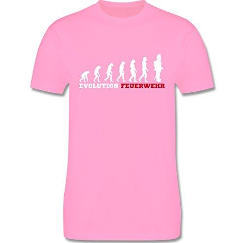 Feuerwehr - Evolution Feuerwehr - Herren Premium T-Shirt Rosa