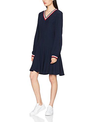 Tommy Hilfiger Damen Josie Dress LS Kleid, Blau (Midnight 403), 36 (Herstellergröße: 6)