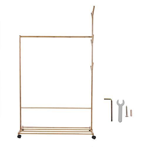 EGCLJ Massivholz Garderobe - Roller Wheel Design - Wohnzimmer Kleiderbügel - Einfach Zu Montieren - Für Flur Schlafzimmer Büro (Color : 100cm)