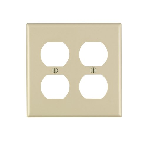 leviton-86016-2-gang-duplex-device-receptacle-wallplate-standard-size-thermoset-device-mount-ivory