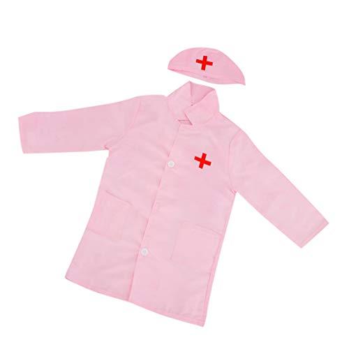 �m - Arzt, Doktor, Krankenschwester, Arztkittel und Kappe - Pink ()