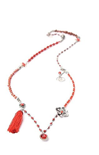 EXOAL Kette COLLIER GIPSY, Rot/Silber 1710-1.11