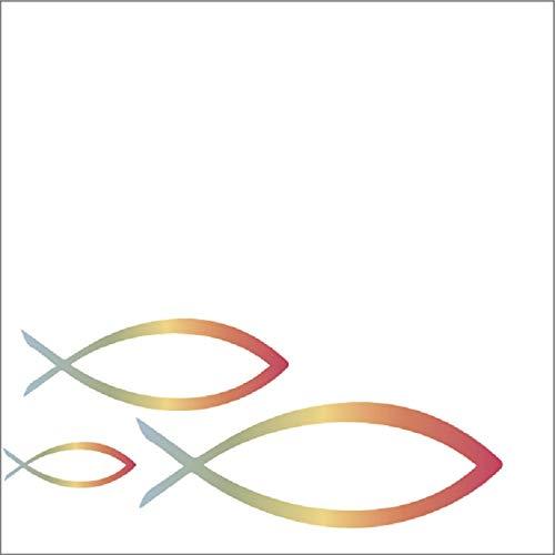 Miss Lovely Gäste-Buch Regenbogen-Fische mit bunten Fisch-Motiven Konfirmation / Kommunion / Taufe / Firmung / Tisch-Dekoration / Gäste-Buch für Mädchen & Jungen Dekoration
