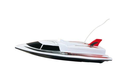 Jamara 040430 - Swordfish 2 Kanal mit LED 27Mhz - 2 Antriebsmotoren mit Sicherheitsfunktion! Schiffsschrauben drehen sich nur im Wasser, einfach zu steuern, Gleiterrumpf für hohe Geschwindigkeiten,LED