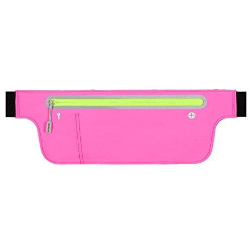 FZHLY Neue Lauf Handy-Taschen Männer Und Frauen Multifunktionales Ultradünne Tasche PurePink