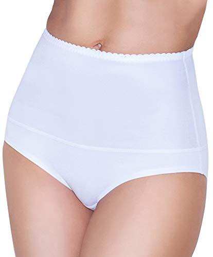 Damen figurenformend Miederslip mit Bauch-Weg-Effekt Stark Formend Miederpants Miederslip Damen Unterwäsche Große Größen (XXXL, Weiß) (Unterwäsche Damen-große Größen)