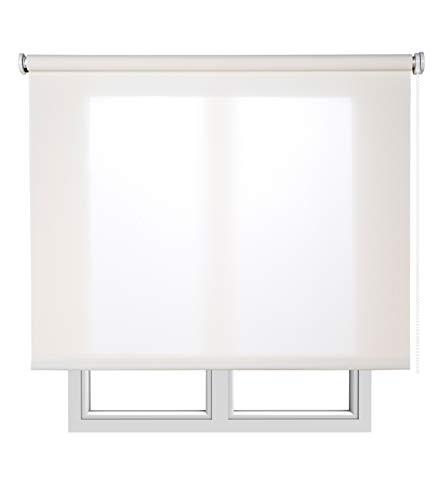Estores Basic, Stores screen, Blanco, 120x180cm, estores para ventana, persianas enrollables para el interior.