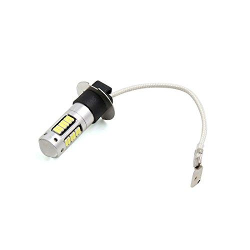 Preisvergleich Produktbild sourcingmap® H3 weiß 30 SMD LED Linse Nebelleuchte Scheinwerfer Glühbirne für Auto Fahrzeug
