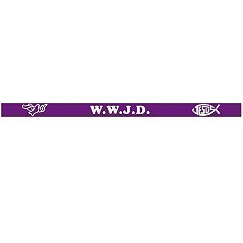 WWJD Armband mit Aufschrift WWJD - What Would Jesus Do, 1 Stück, Silikon