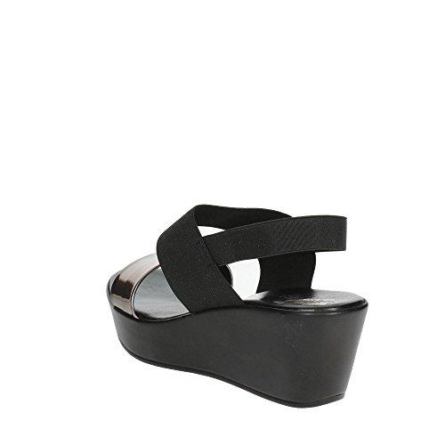 Cinzia Soft IBC15 002 Sandale Femme Noir/Gris