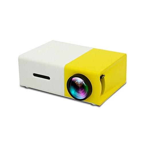 LCD Beamer, YG300 1080P HD, Multimedia Heimkino Video Projektor Unterstützung HDMI USB SD Karte AV