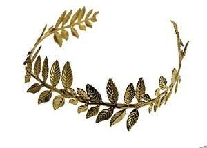 Mythologie Griechisch Kostüm Römische - ILOVEFANCYDRESS Goldener Lorbeerkranz/Krone=RÖMISCHE GRIECHISCHE KOSTÜM VERKLEIDUNG = LEICHT BIEGSAMES Gold FARBENDES Material=40cm UND IST OFFEN AN Einer Seite=6 LORBEERKRÄNZE