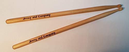 Drum-Sticks mit individueller Brandgravur eines Namen, Vordruck Millenium 5B
