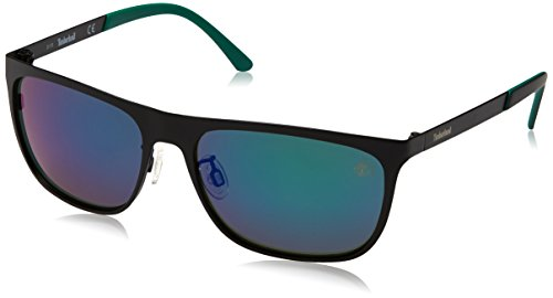 Timberland sonnenbrille tb9093 5702r, occhiali da sole uomo, nero (schwarz), 57