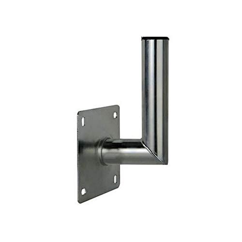 PremiumX 10-15cm Wandhalter Stahl verzinkt Winkel Wand-Halterung für Satelliten-Antenne SAT-Schüssel Wand-Montage Wandabstand 100-150mm Ø 48mm -