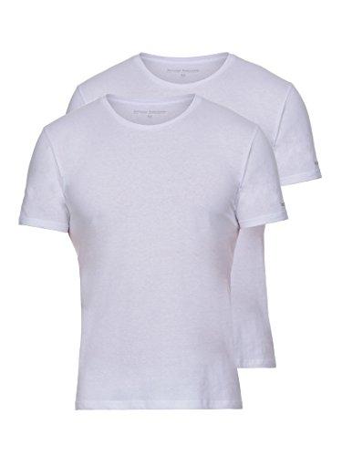 Bruno Banani 4 Pack Herren T-Shirt, Rundhals Unterhemd Pure Cotton, (2x 2er Pack) Weiß
