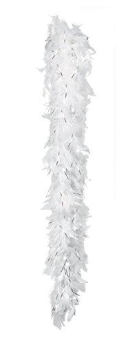 Boland 52672 - Federboa, circa 180 cm, weiß / silber