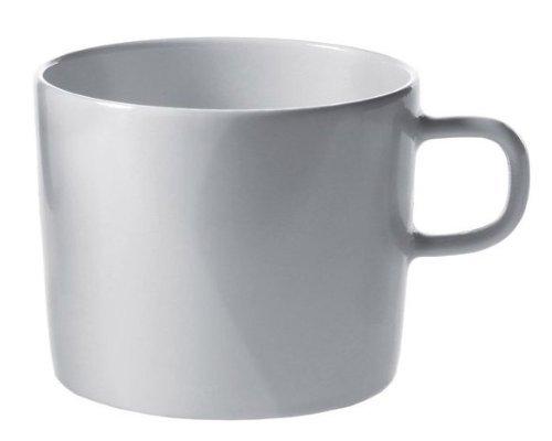 Alessi Ajm28/78 Platebowlcup Tasse à Thé en Porcelaine Blanche, Set de 4 Pièces