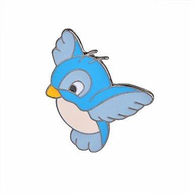 ZZCLSHIPIN Damen Vogel Broschen - Zeichentrick/Modisch Flamingo/Fl¨¹gel Hellblau Brosche F¨¹r Alltag/Party, light blue(2PACK OF)