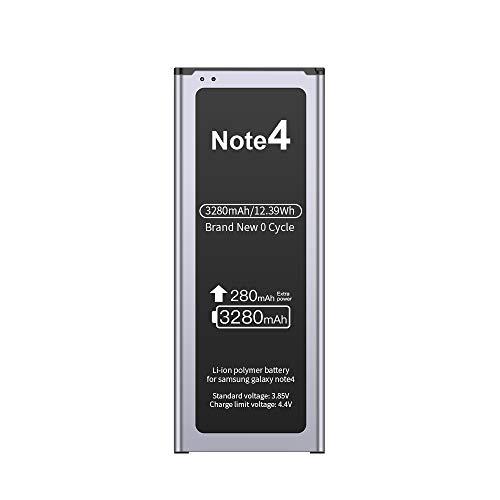 EMNT Akku für Samsung Galaxy Note 4 3320mAh Li-Ion Interner Akku höhere Kapazität (500 Ladezyklen, CE, FCC und RoHS)