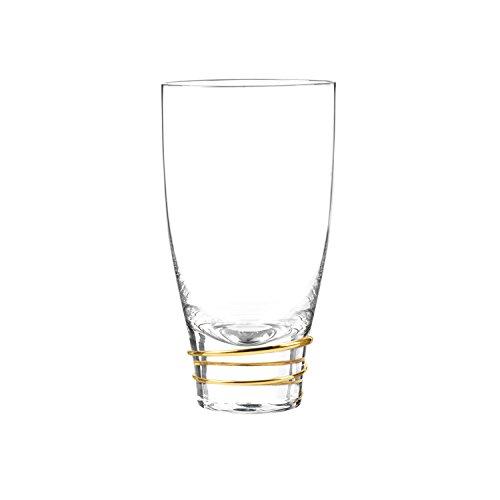 Qualia Glas q191011Helix Highball, Gold/Transparent -