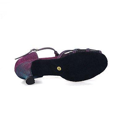 Scarpe da ballo-Da donna-Danza del ventre / Balli latino-americani / Jazz / Sneakers da danza moderna / Moderno / Samba Navy