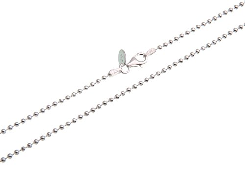 Kugelkette 2mm - echt 925 Silber, Länge wählbar 40-100cm