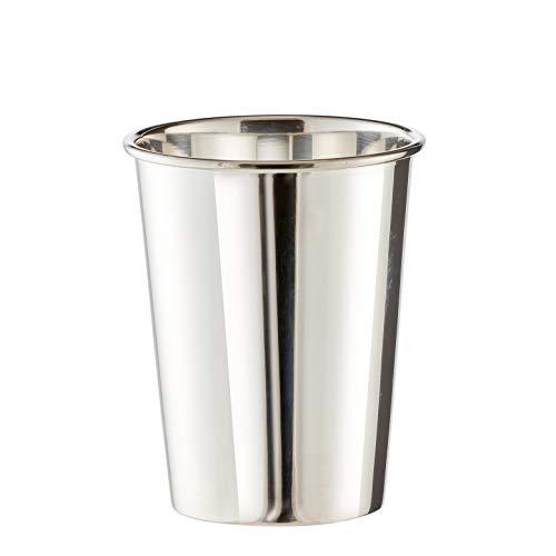 Brillibrum Design Becher Versilbert Metall Silber Gourmet Taufbecher Mit Wunschgravur Trinkbecher Stiftebecher Becher - Klein (Gravur bis 20 Zeichen) (Kinder Zeichen Trinkbecher)