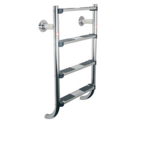 Escalera, escalera y pasamanos (escala dos elementos–1marcha de seguridad + 4peldaños luxes–Astralpool