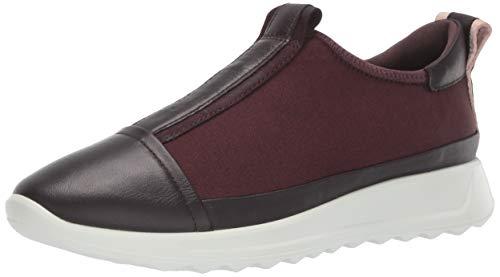 ECCO Damen Flexure Runner W Slip On Sneaker, Violett Fig/Black/Rose Dust 51578, 41 EU - Ecco Satin