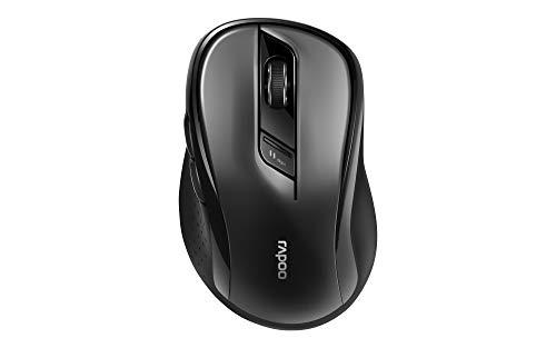 Rapoo M500 kabellose Multi-Mode-Maus mit intelligentem Wechsel - Bluetooth 3.0, Bluetooth 4.0, 2,4 GHz-Funkverbindung, 1600 DPI-Sensor, Schwarz