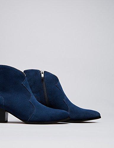 FIND Damen Western Ankle Cowboy Stiefel Blau (Navy/black)
