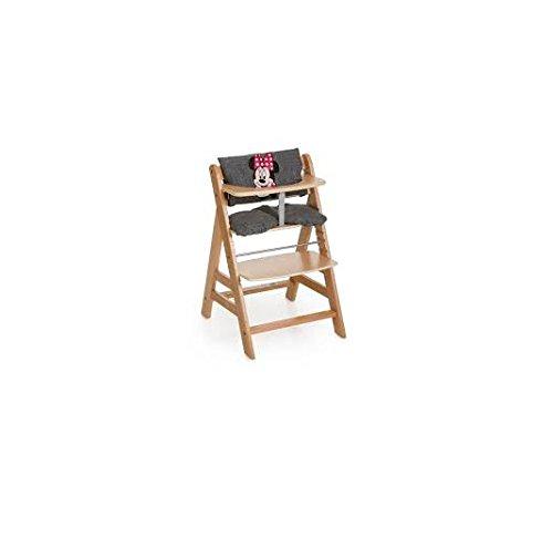 Hauck Hochstuhlauflage Luxe Minnie-Sitz-Kissen, grau