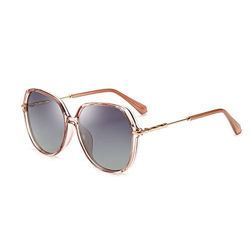 Polarisierte Sonnenbrille Frauen Licht Sonnenbrille Uv-Schutz Stil Stilvolle Komfortable Augen, Geeignet Für Dekorative Sonnenschutz Tourismus Fahren (Color : Pink)