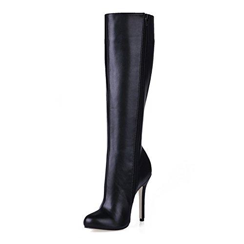 La qualità elevata e stivali inverno nuovo punto nero con tacco alto stivali stivali di Martin Black
