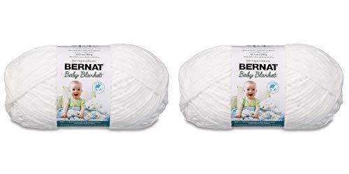BERNAT BABY BLANKET- PACK OF 2 BALLS- 300G EACH BALL- WHITE -