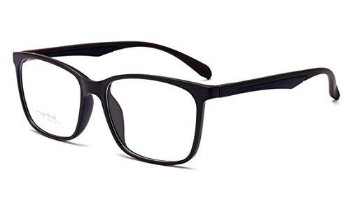 JIUPO Brille Ohne Sehstärke Voll Rahmen Rechteckig Nerdbrille Klare Lens Brillenfassung Unisex