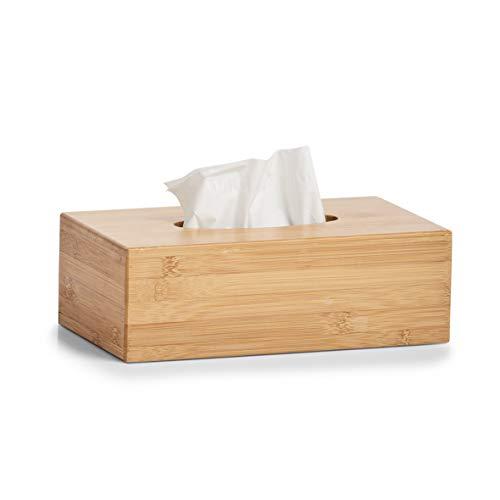 Zeller 25305 Kosmetiktücher-Box, Bamboo, L 27.5 x B 15.5 x H 8.5 cm