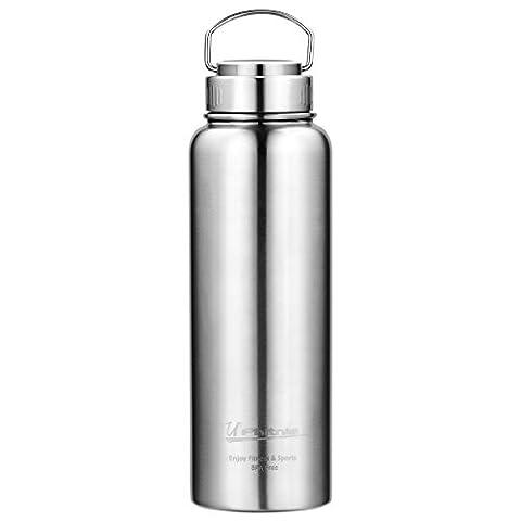 UPhitnis Thermosflasche - BPA freie Thermoskanne 550ml/1100ml - Isolier Flasche das Laufen, Fitness, Yoga, Im Freien und Camping, Auto oder Unterwegs - Beste Trinkflasche Edelstahl für Kaffee, Tee, Kaltgetränke