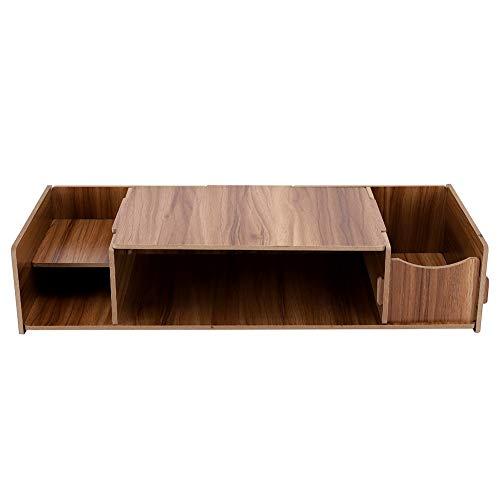 btisch 52.5 x 23 x 3cm, Laptopständer Notebook Tisch Kleiner Schreibtisch mit 3 Ablagen für Maus Lautsprecher usw. Perfekt für Wohnzimmer/Schlafzimmer/Studentenwohnheim(Kirschholz) ()