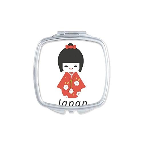 DIYthinker Espejo de Bolsillo japonés Tradicional Local de la niña Plaza de Juguete Maquillaje Compacto...