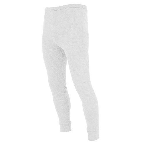 FLOSO - Sous-pantalon thermique (en viscose) - Homme (Tour de taille: XL 99-104cm) (Blanc)